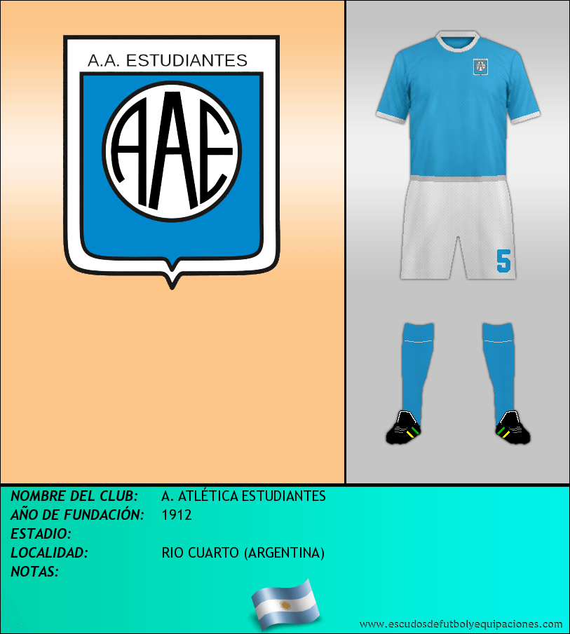 Escudo de A. ATLÉTICA ESTUDIANTES