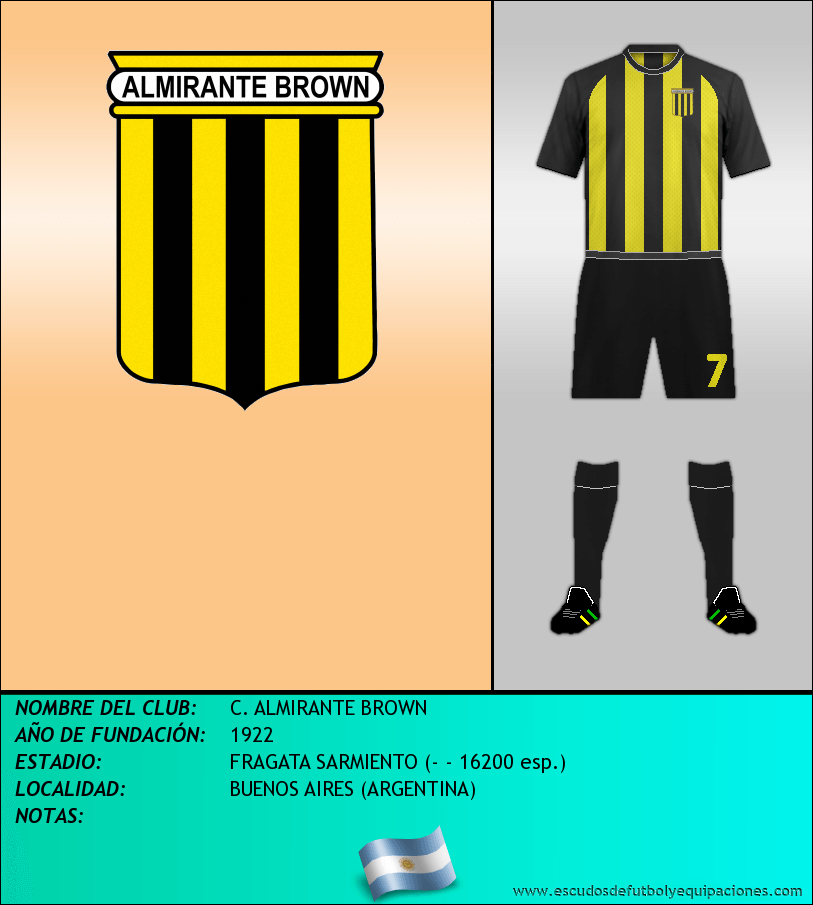 Escudo de C. ALMIRANTE BROWN