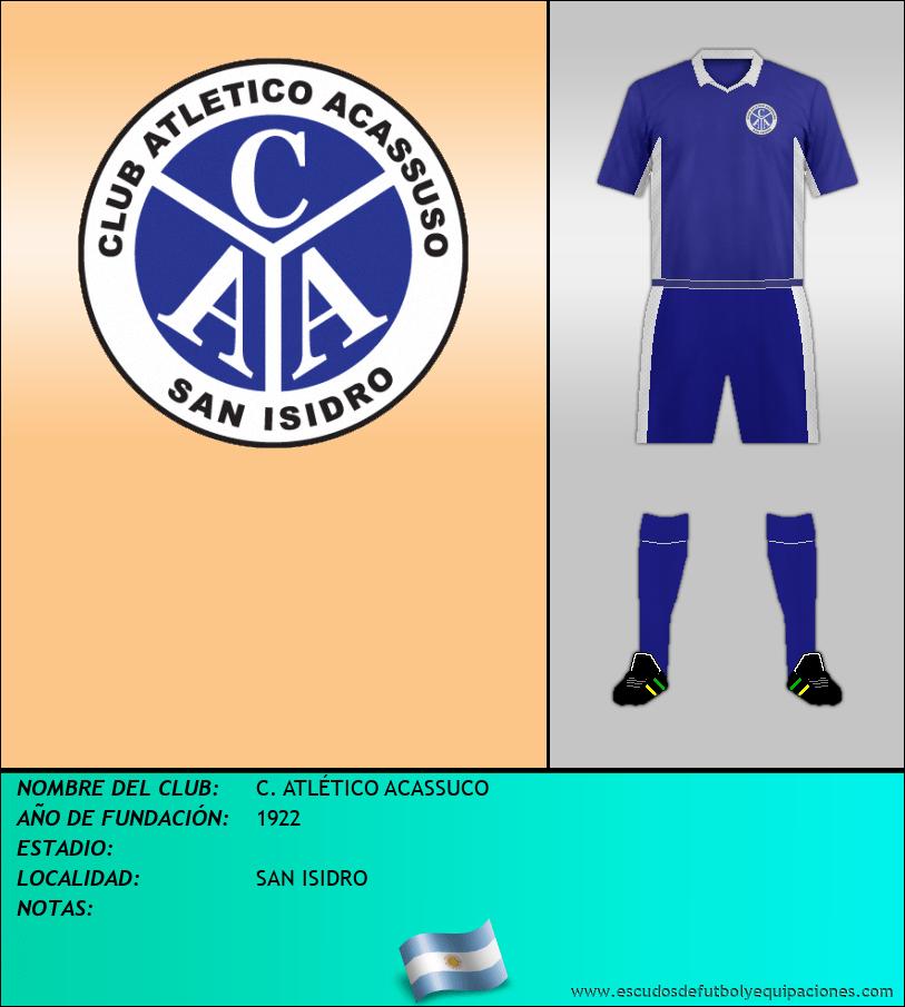 Escudo de C. ATLÉTICO ACASSUCO
