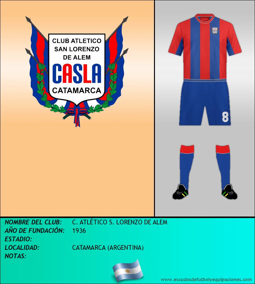 Escudo de C. ATLÉTICO S. LORENZO DE ALEM