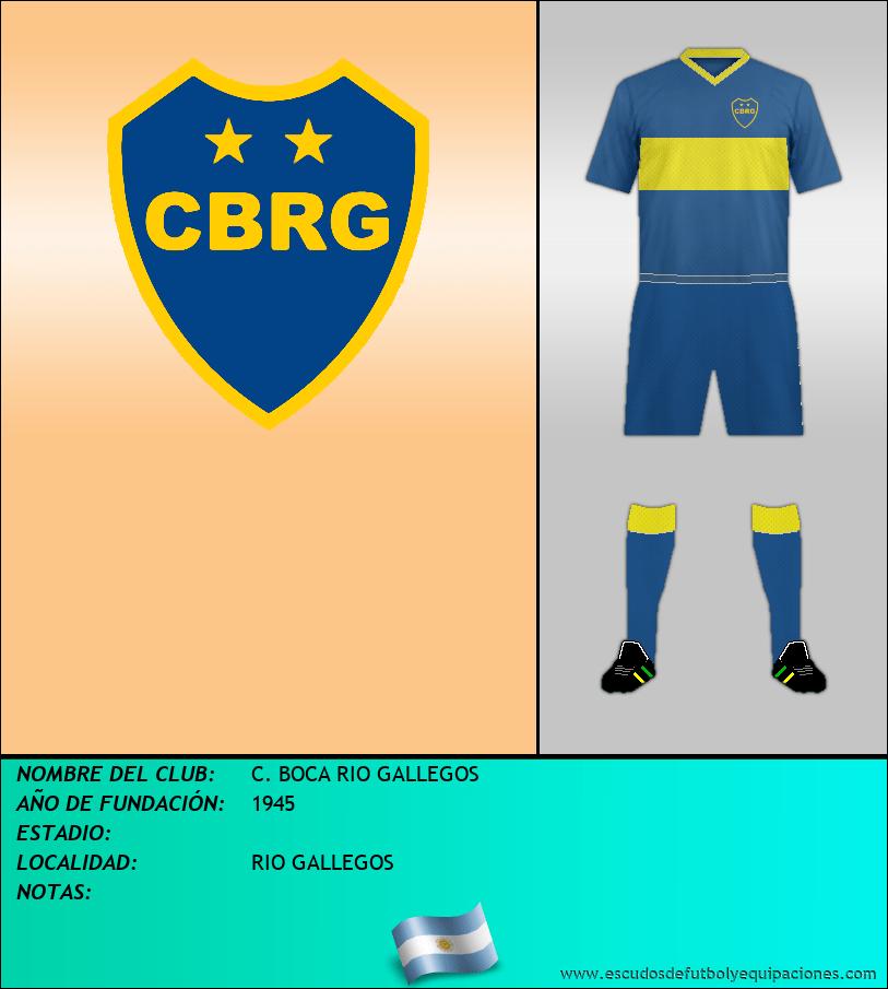 Escudo de C. BOCA RIO GALLEGOS