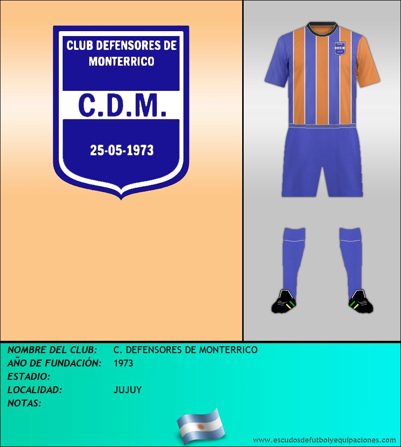 Escudo de C. DEFENSORES DE MONTERRICO