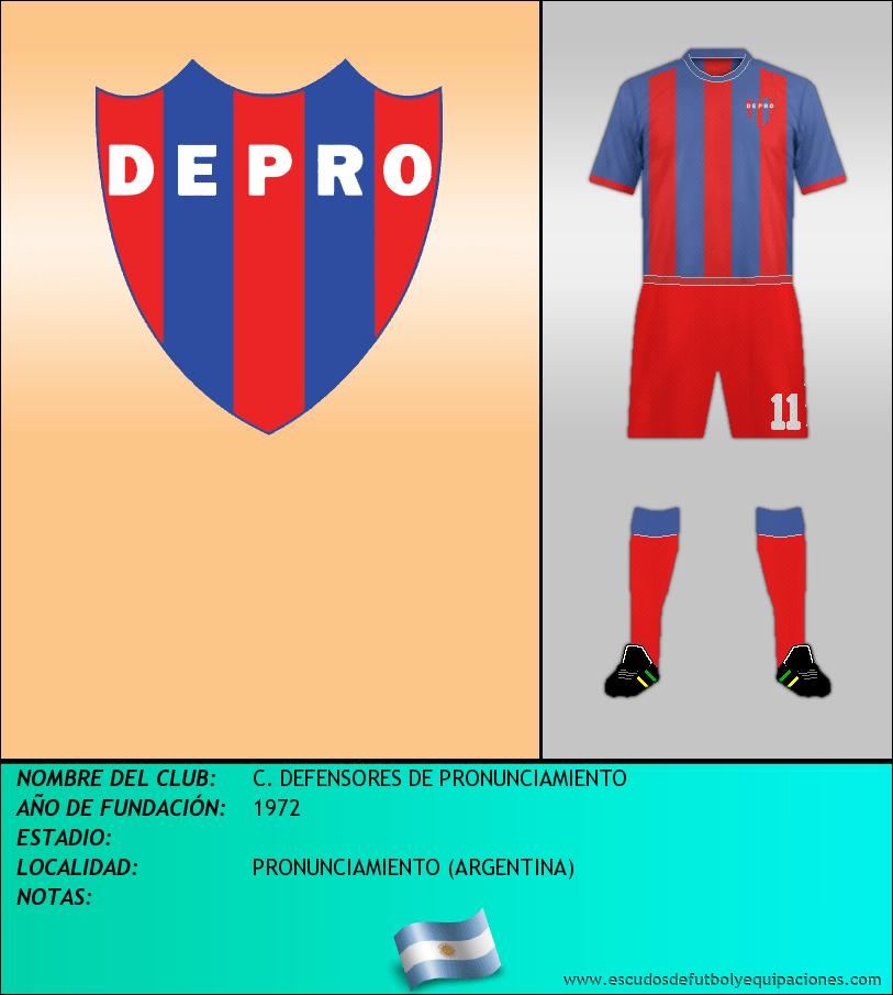 Escudo de C. DEFENSORES DE PRONUNCIAMIENTO