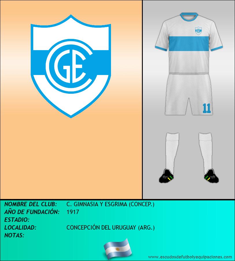 Escudo de C. GIMNASIA Y ESGRIMA (CONCEP.)