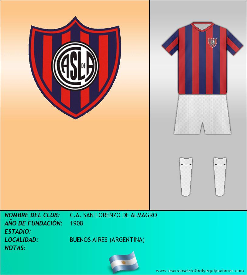 Escudo de C.A. SAN LORENZO DE ALMAGRO