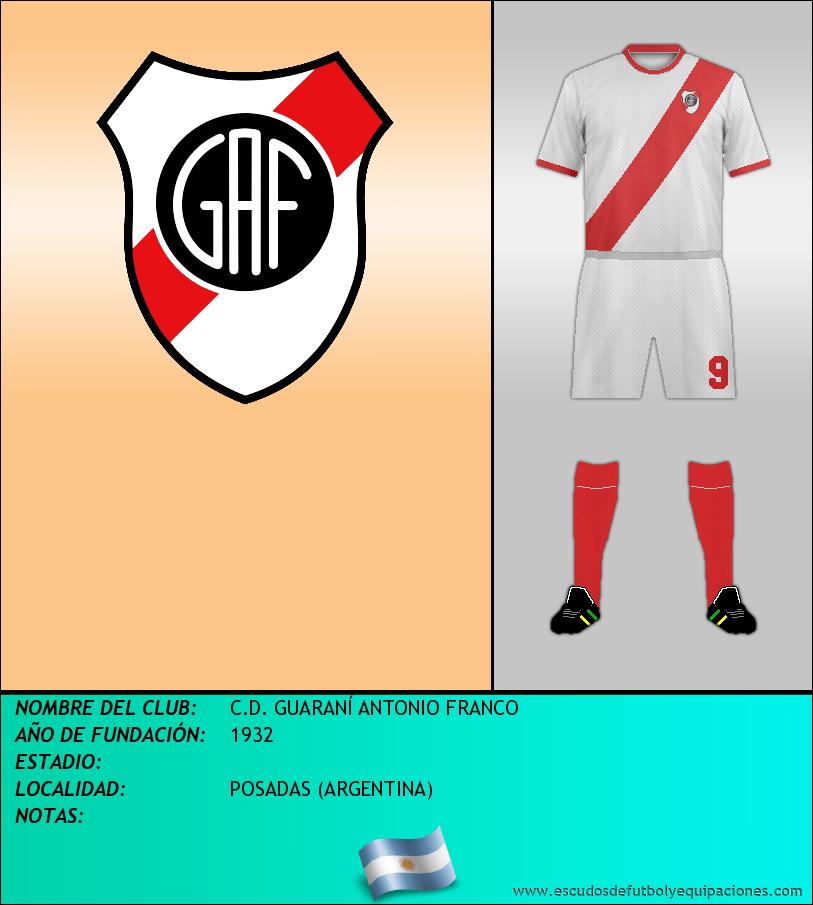 Escudo de C.D. GUARANÍ ANTONIO FRANCO