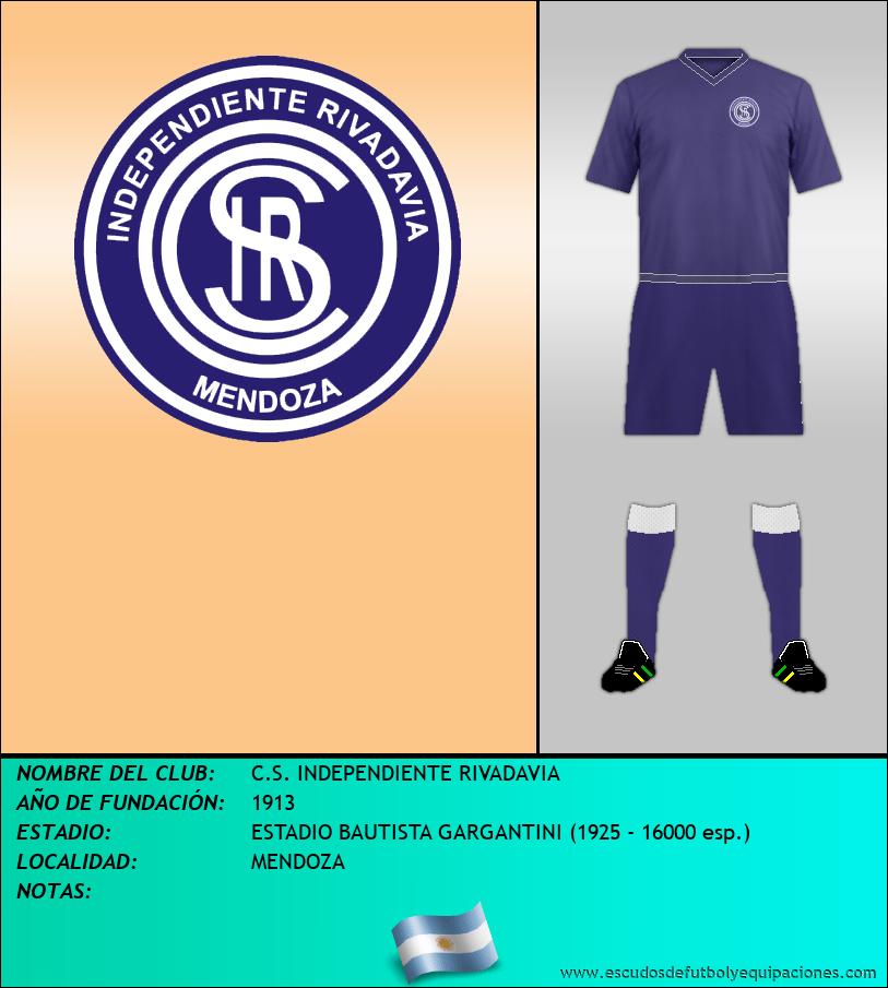 Escudo de C.S. INDEPENDIENTE RIVADAVIA