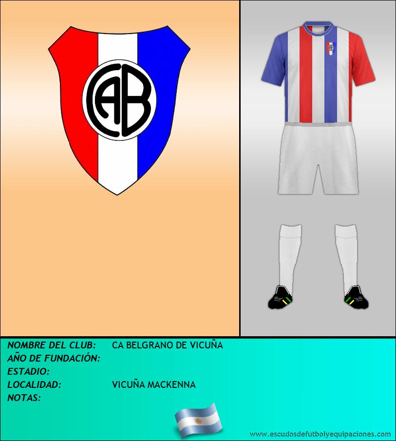 Escudo de CA BELGRANO DE VICUÑA