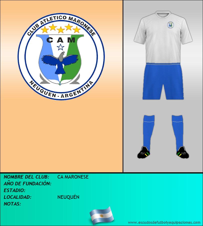 Escudo de CA MARONESE
