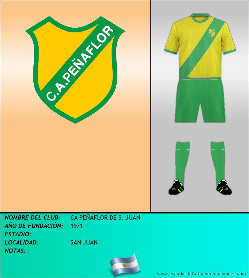 Escudo de CA PEÑAFLOR DE S. JUAN