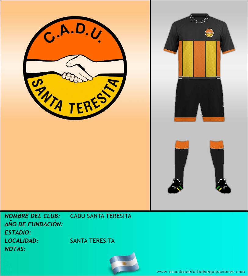 Escudo de CADU SANTA TERESITA