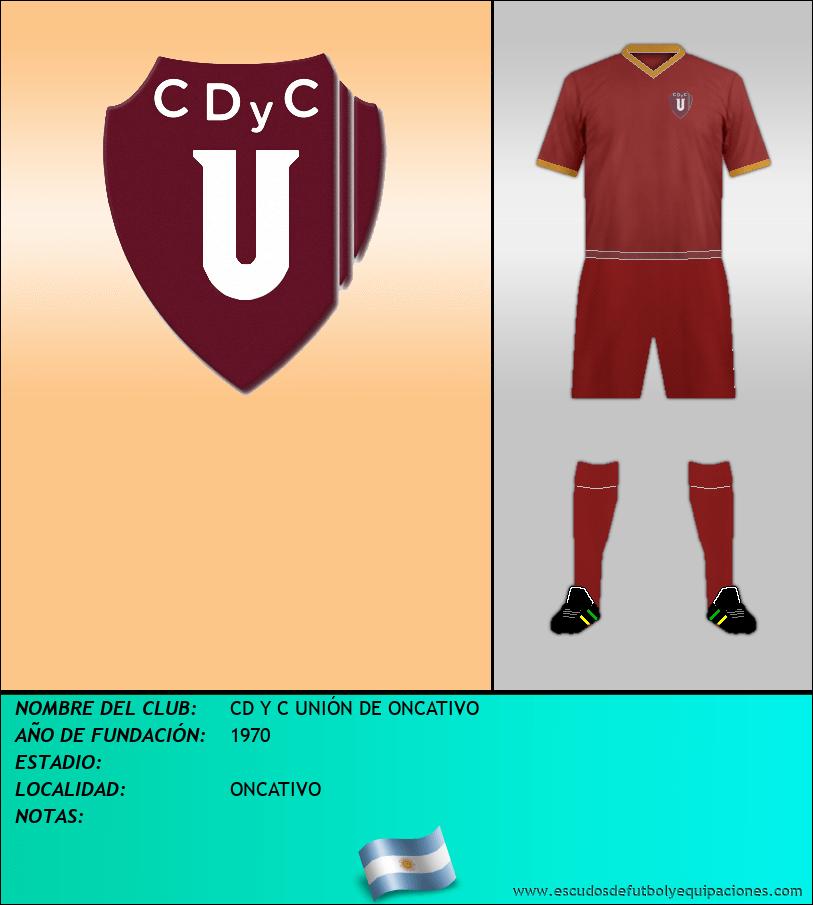 Escudo de CD Y C UNIÓN DE ONCATIVO
