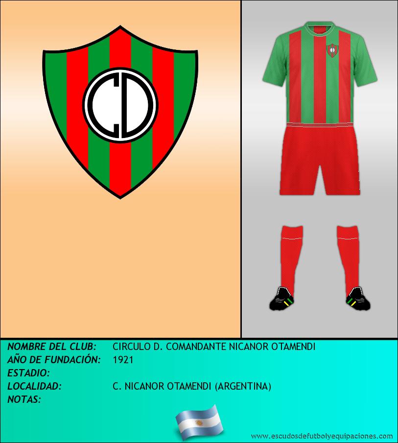 Escudo de CIRCULO D. COMANDANTE NICANOR OTAMENDI