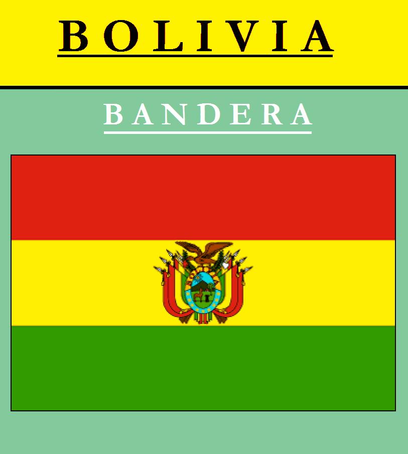 Escudo de BANDERA DE BOLIVIA