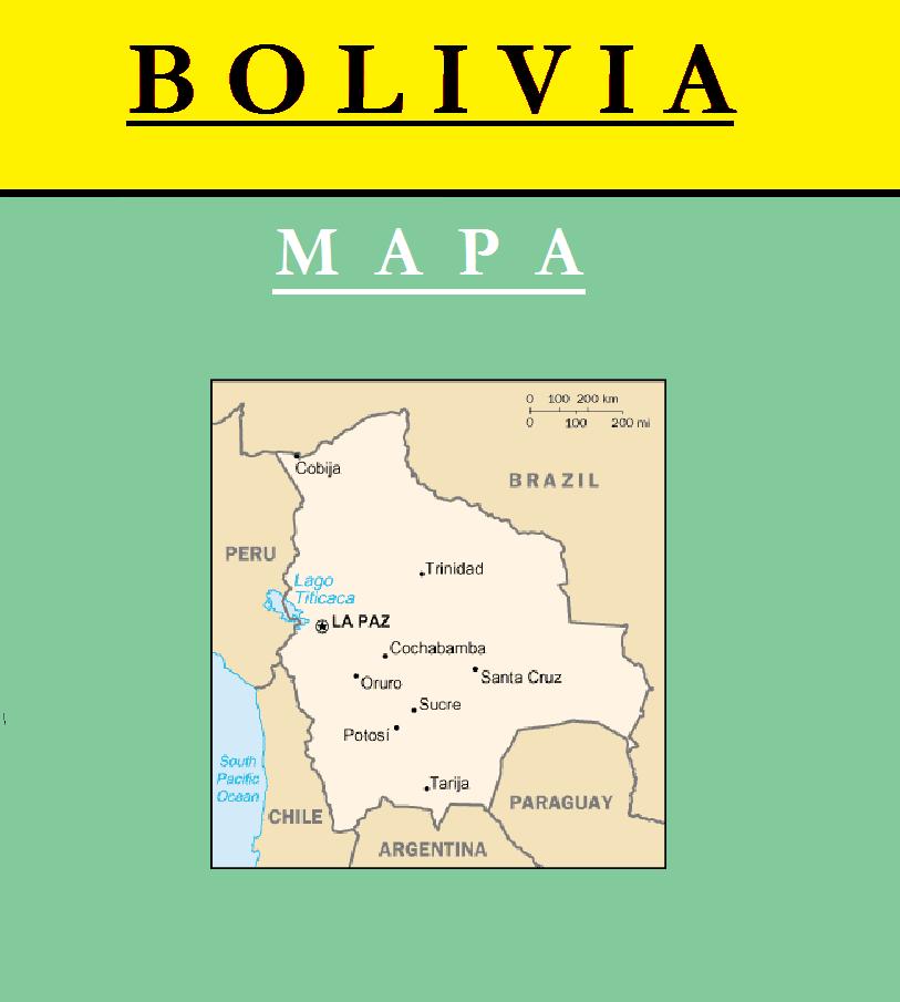 Escudo de MAPA DE BOLIVIA