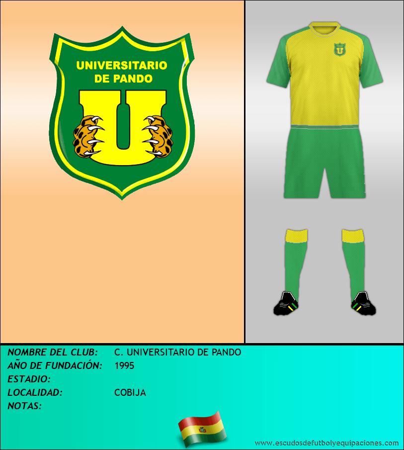 Escudo de C. UNIVERSITARIO DE PANDO