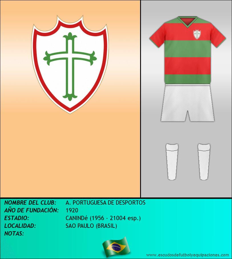 Escudo de A. PORTUGUESA DE DESPORTOS
