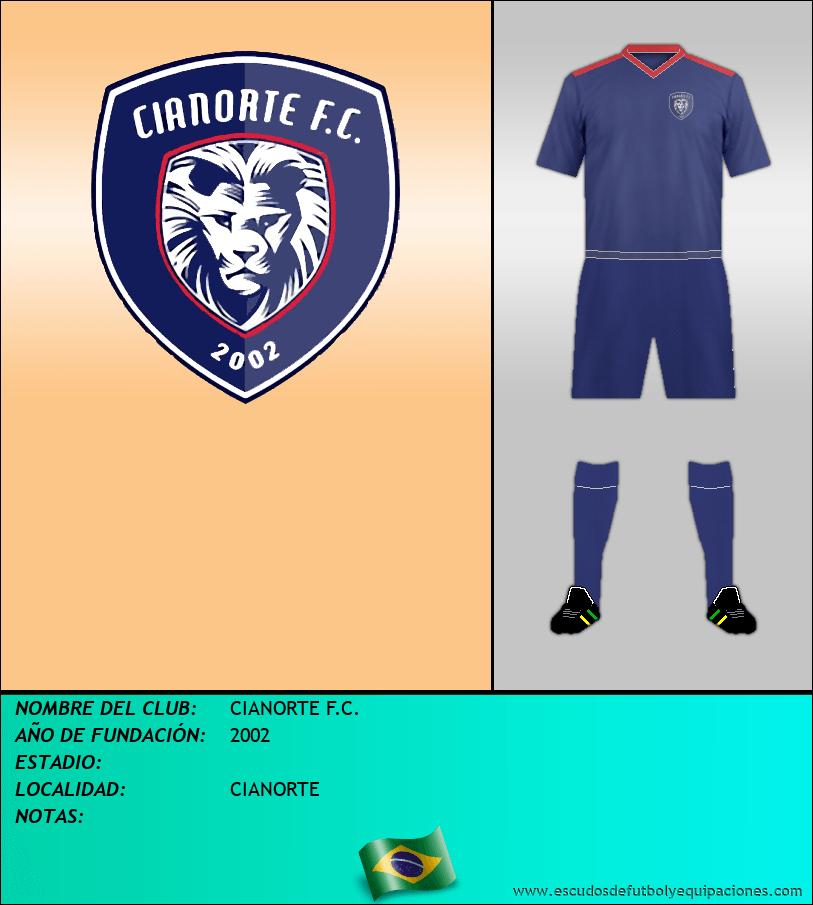 Escudo de CIANORTE F.C.