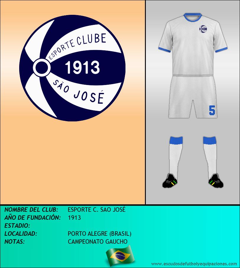 Escudo de ESPORTE C. SAO JOSÉ