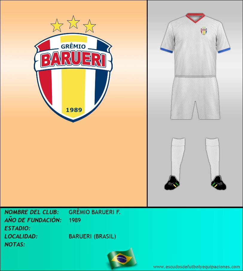Escudo de GRÊMIO BARUERI F.