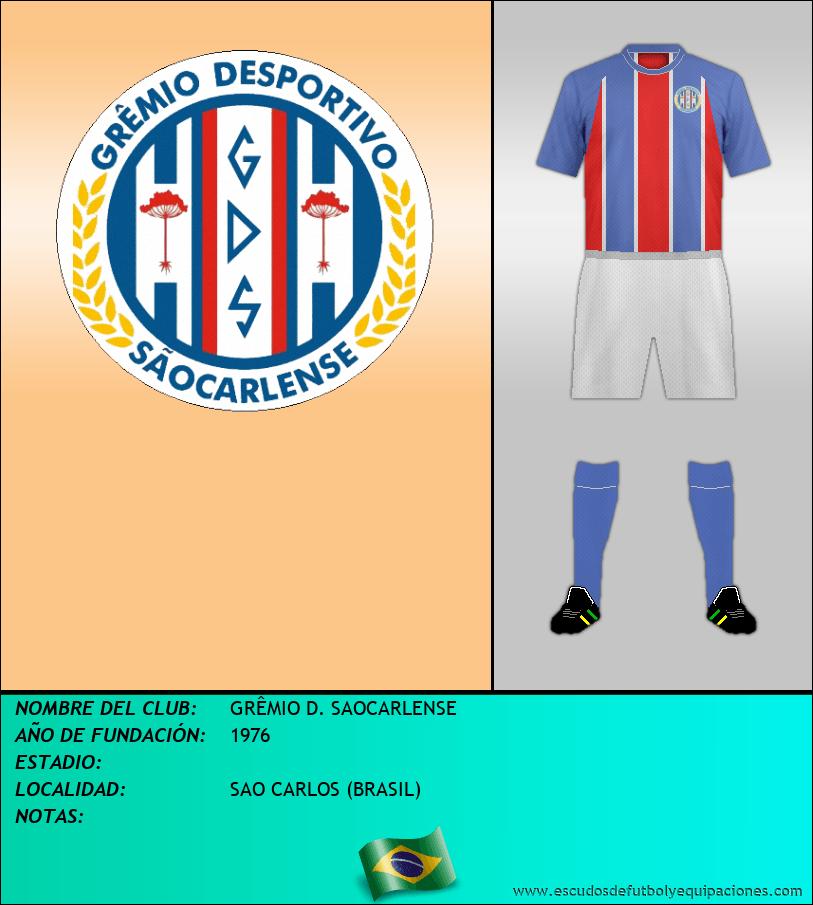 Escudo de GRÊMIO D. SAOCARLENSE