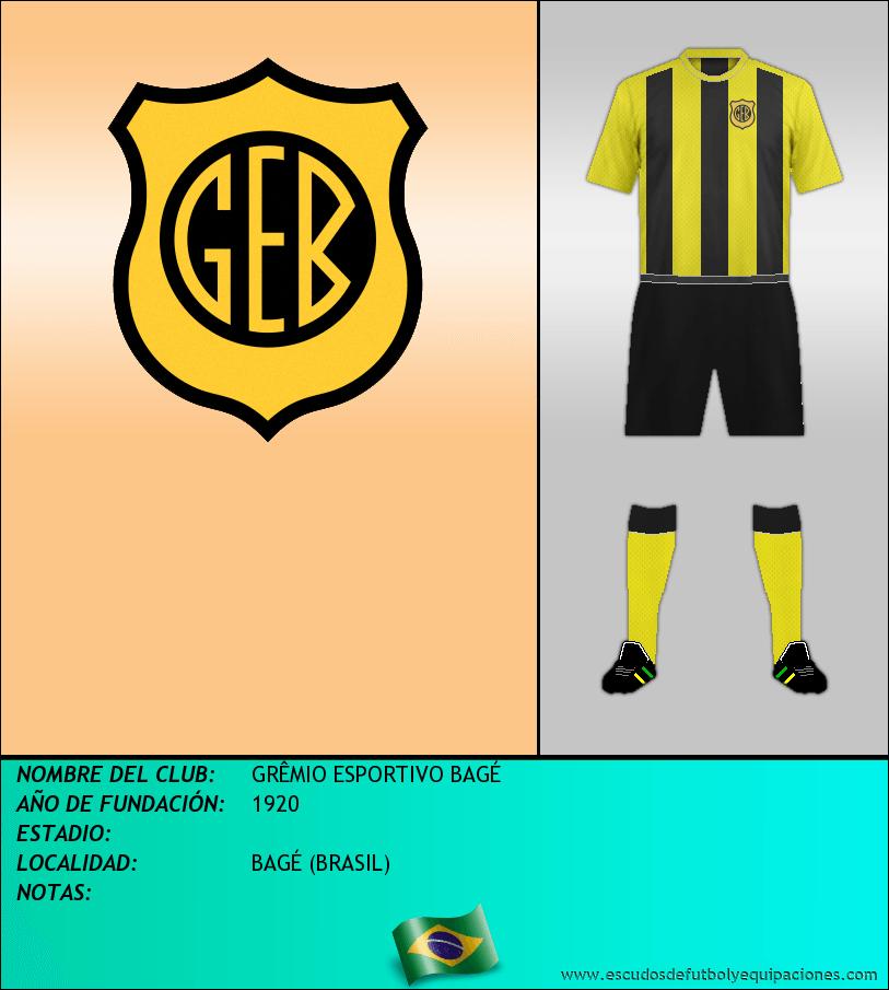 Escudo de GRÊMIO ESPORTIVO BAGÉ