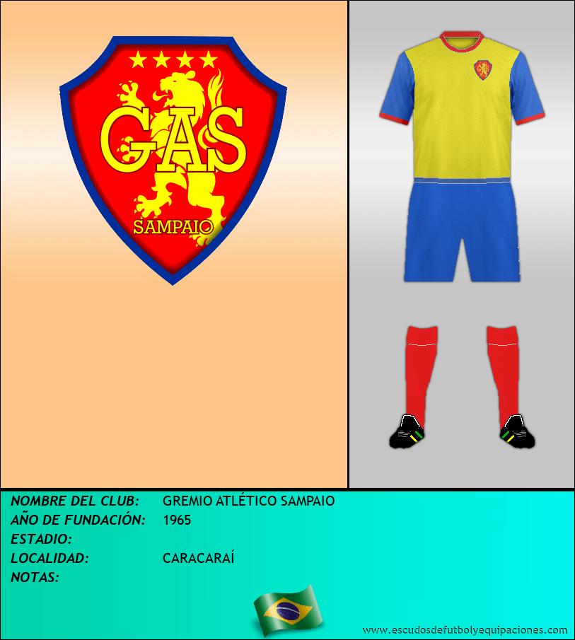 Escudo de GREMIO ATLÉTICO SAMPAIO
