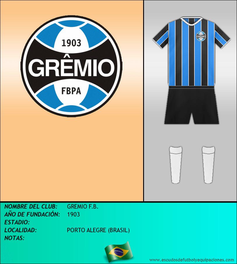Escudo de GREMIO F.B.