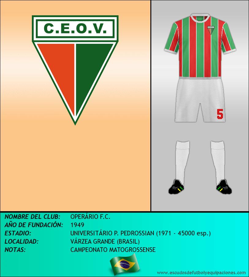 Escudo de OPERÁRIO F.C.