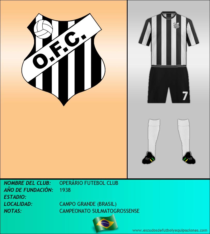 Escudo de OPERÁRIO FUTEBOL CLUB