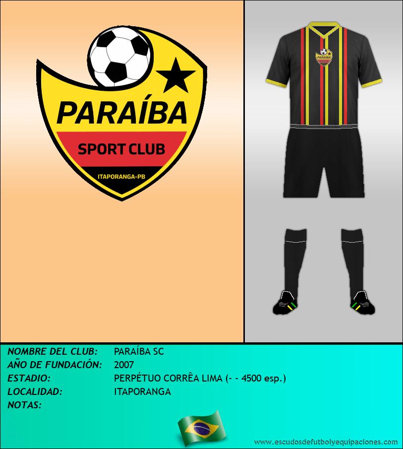 Escudo de PARAÍBA SC