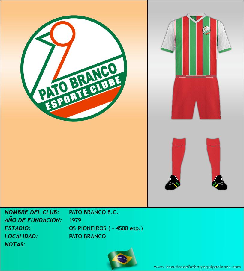Escudo de PATO BRANCO E.C.