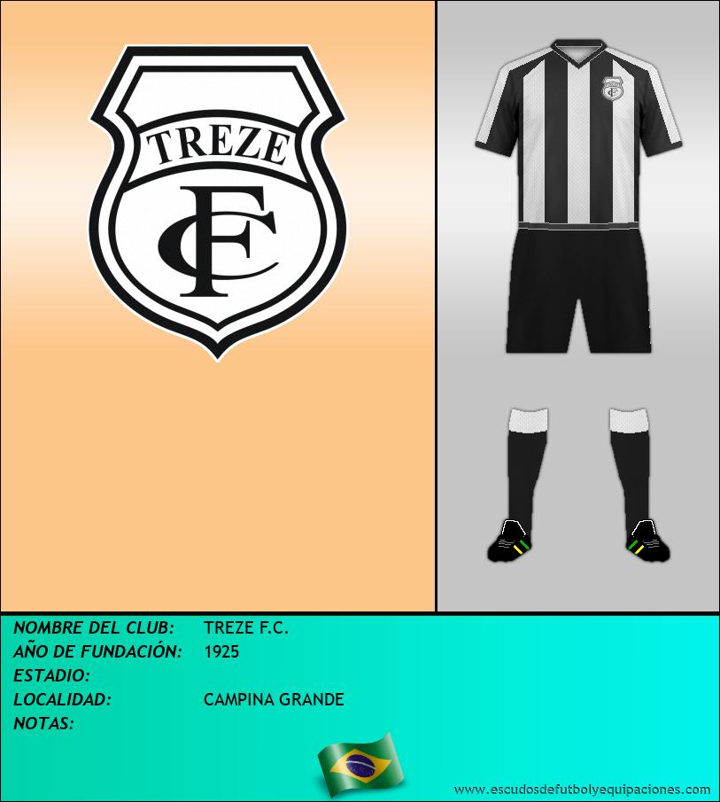 Escudo de TREZE F.C.