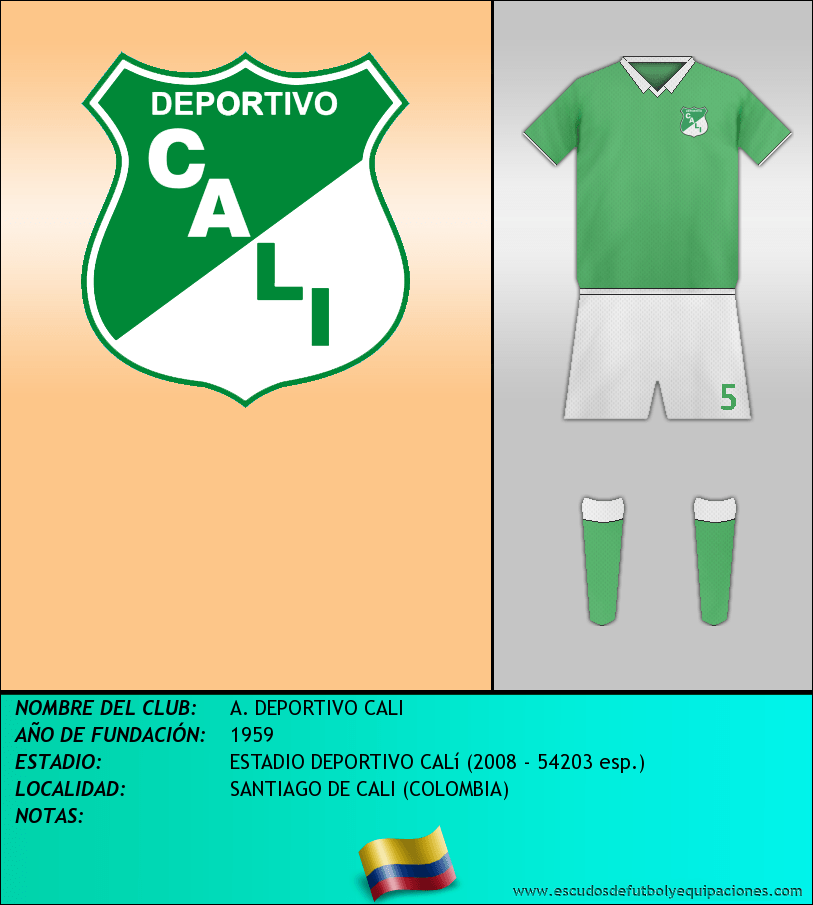 Escudo de A. DEPORTIVO CALI