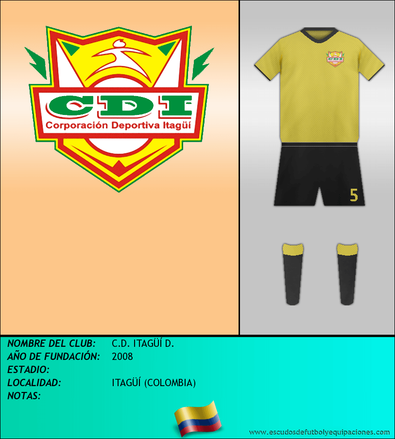 Escudo de C.D. ITAGÜÍ D.
