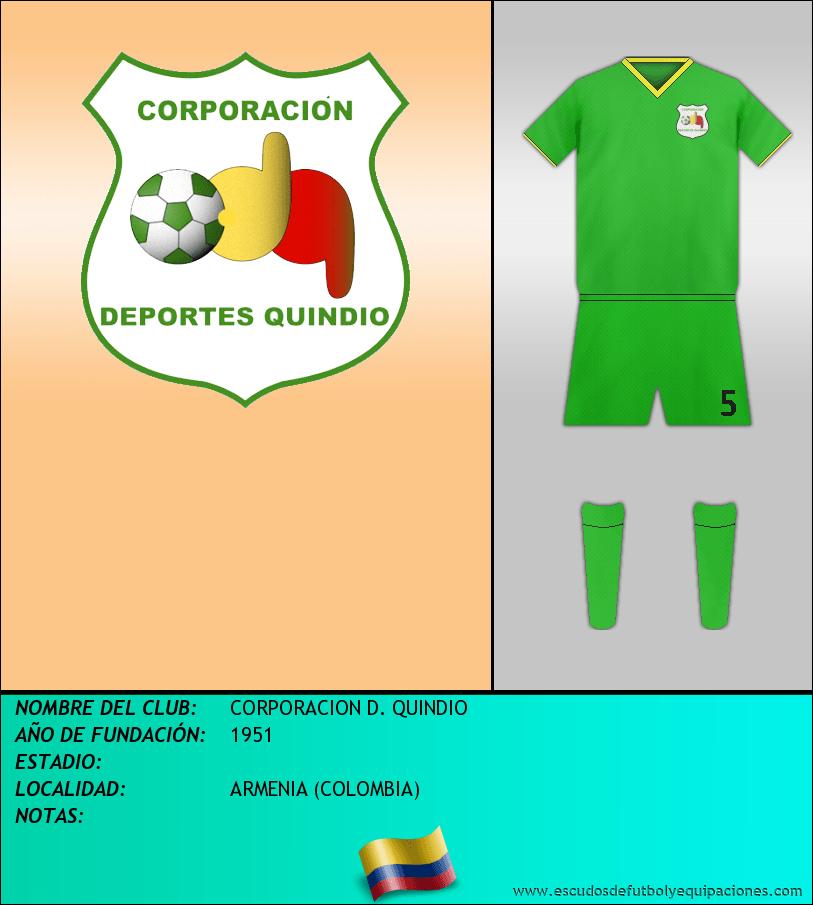 Escudo de CORPORACION D. QUINDIO