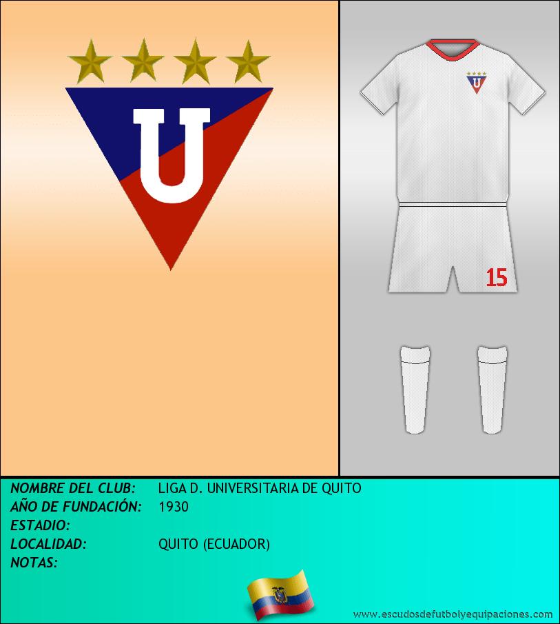 Escudo de LIGA D. UNIVERSITARIA DE QUITO