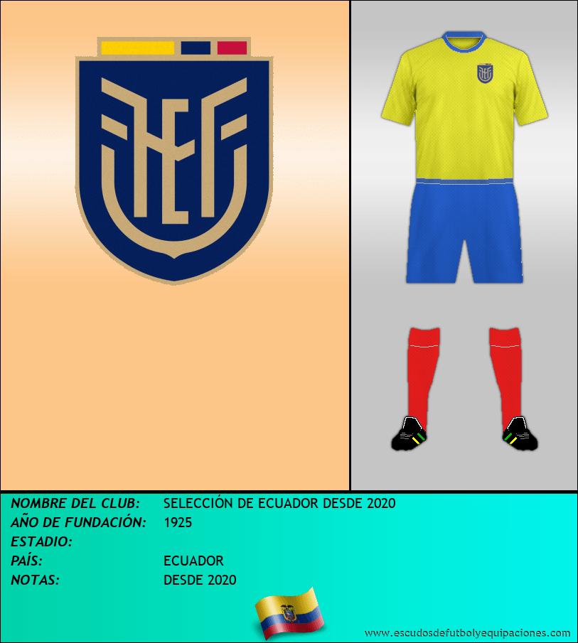 Escudo de SELECCIÓN DE ECUADOR DESDE 2020