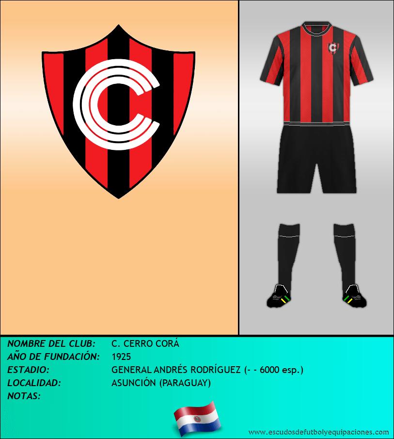 Escudo de C. CERRO CORÁ