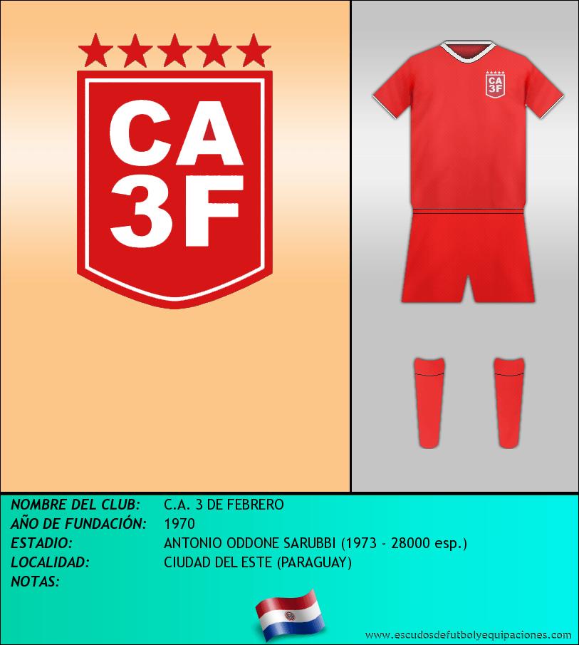 Escudo de C.A. 3 DE FEBRERO