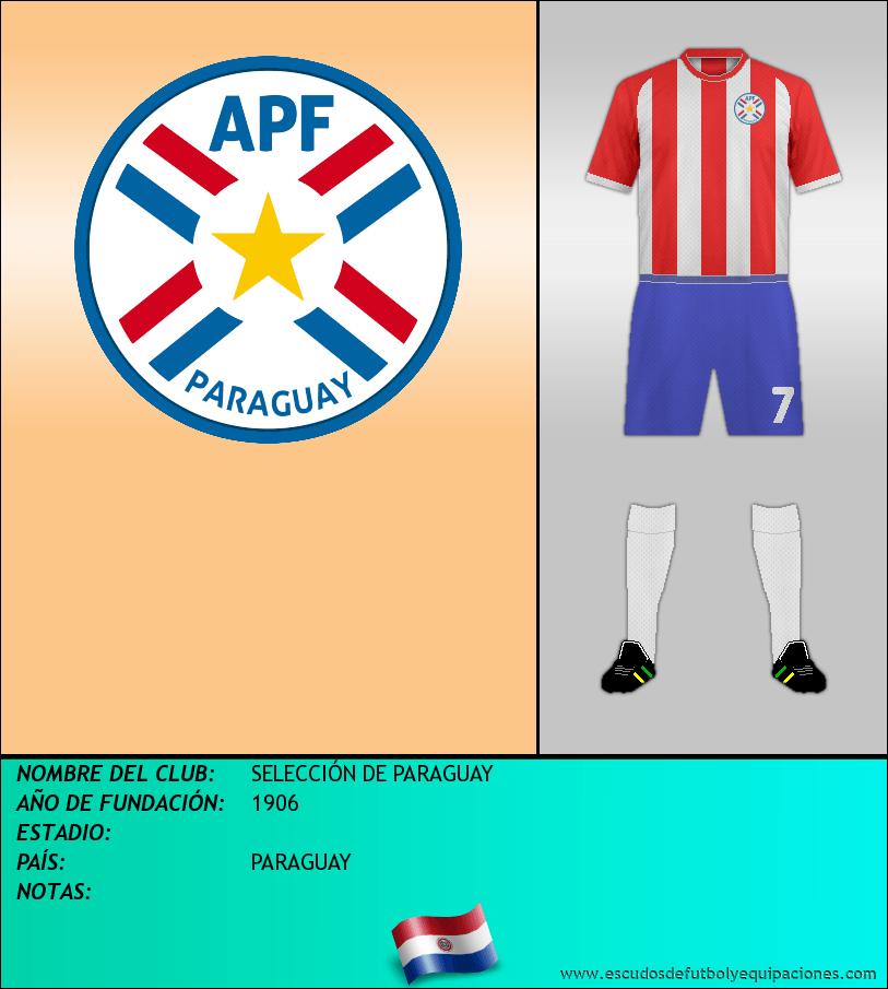 Escudo de SELECCIÓN DE PARAGUAY