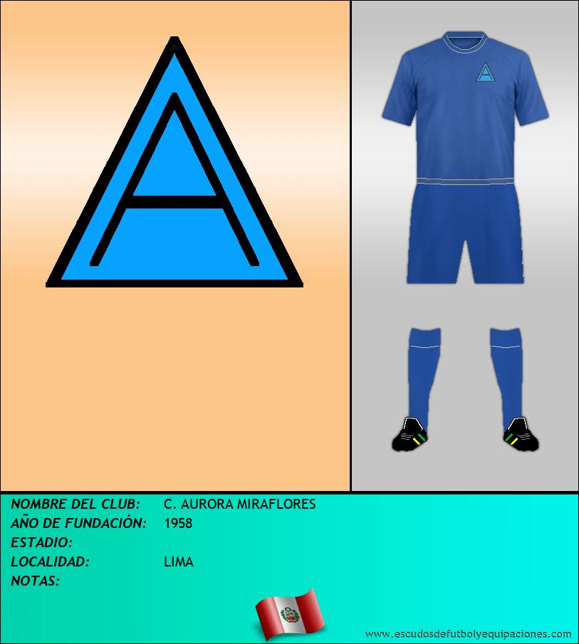 Escudo de C. AURORA MIRAFLORES