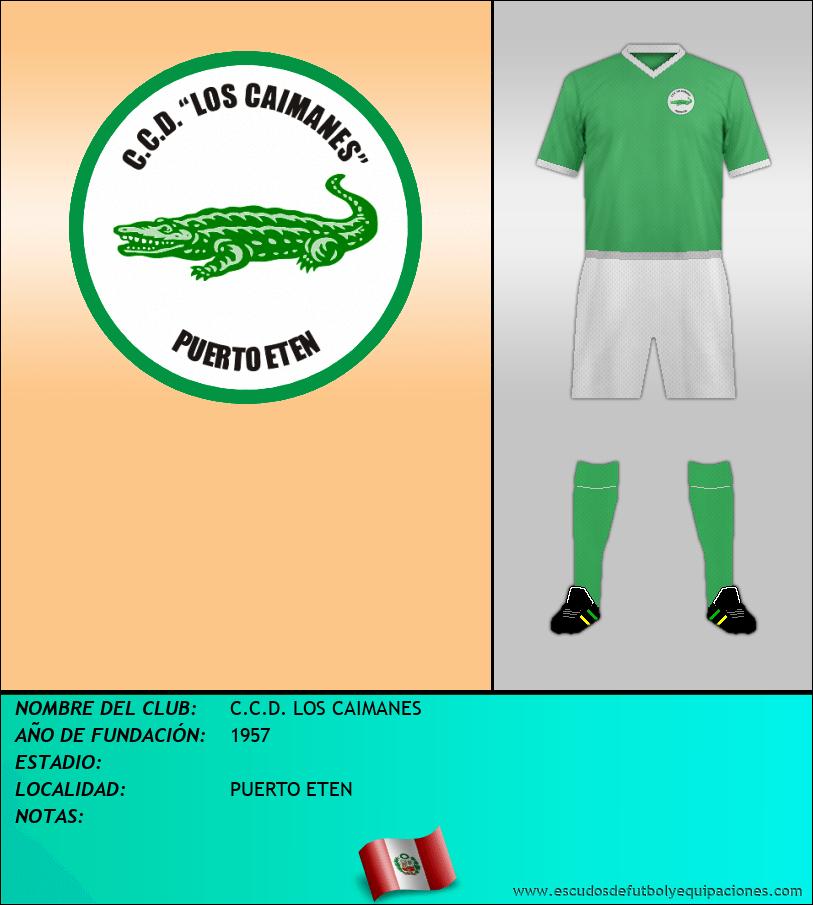 Escudo de C.C.D. LOS CAIMANES