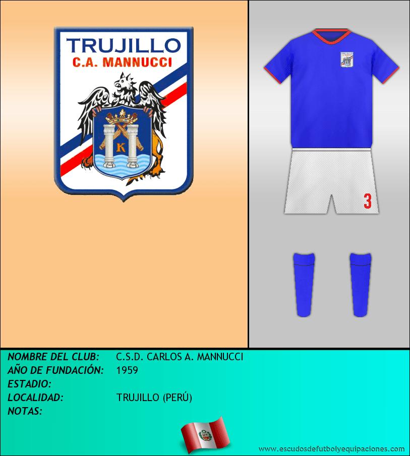 Escudo de C.S.D. CARLOS A. MANNUCCI