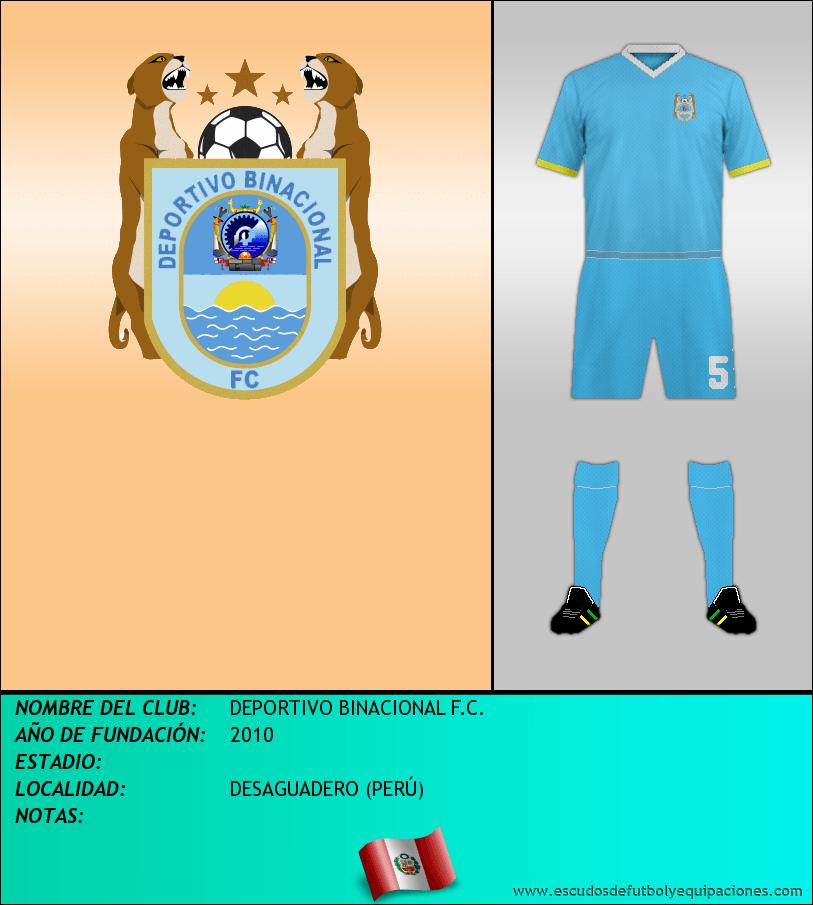 Escudo de DEPORTIVO BINACIONAL F.C.
