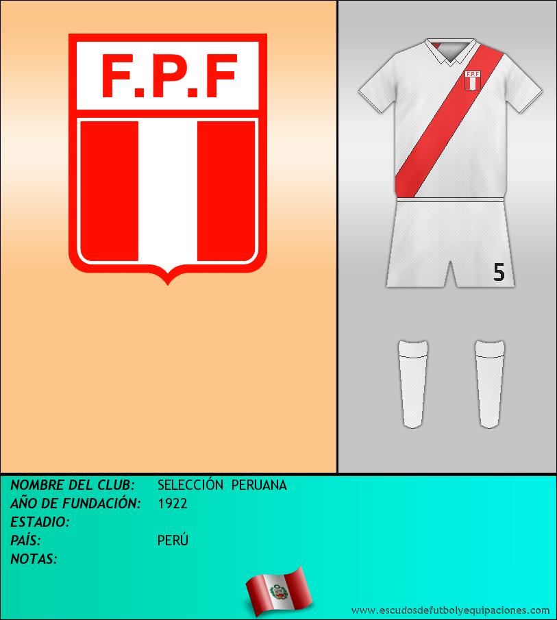 Escudo de SELECCIÓN  PERUANA