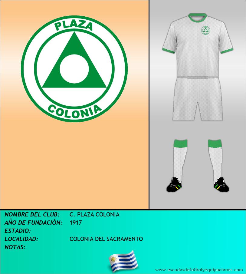 Escudo de C. PLAZA COLONIA