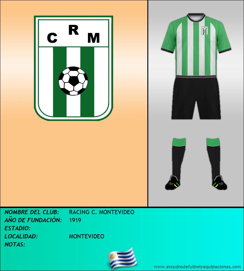 Escudo de RACING C. MONTEVIDEO