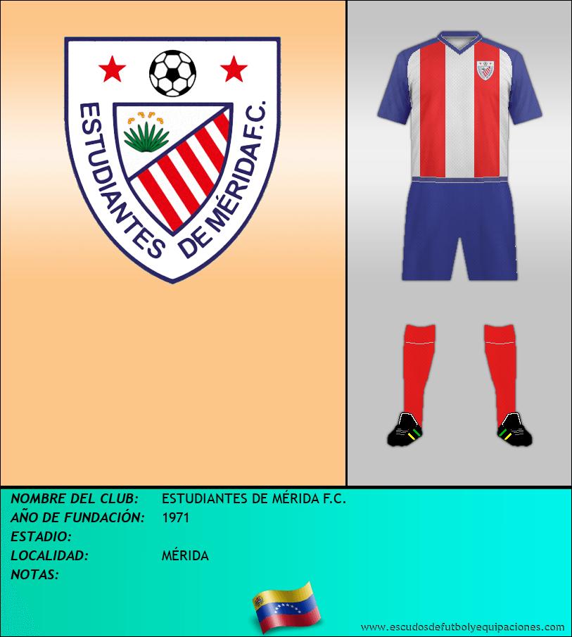 Escudo de ESTUDIANTES DE MÉRIDA F.C.