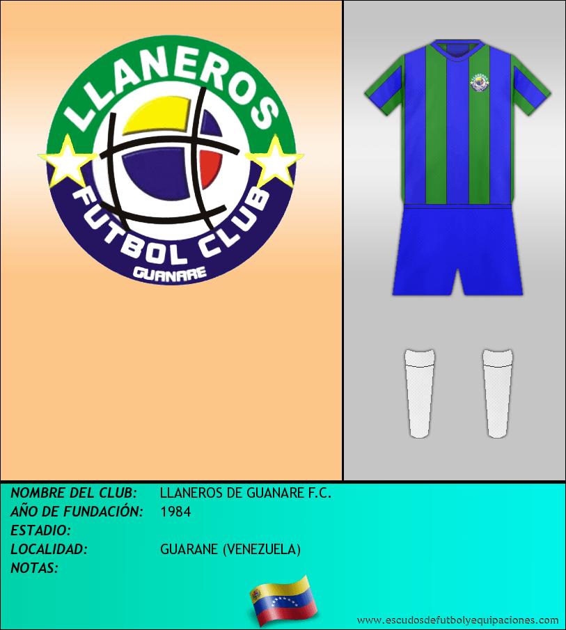 Escudo de LLANEROS DE GUANARE F.C.